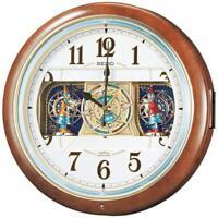 SEIKO CLOCK Wall Clock Radio Wave Analog 6 song melody RE580B EMS w/ Tracking