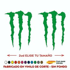 2X PEGATINA LOGO MONSTER ENERGY VINILO STICKER DECAL AUTOCOLLANT GARRA SPONSOR