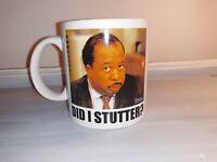"NBC The Office 20oz Ceramic Coffee/Tea Mug NEW ""DID I STUTTER?"""