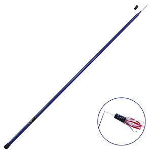 Anley 10Ft Telescopic Flagpole - Retractable Fiberglass Telescoping flag pole