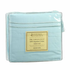 1500 TC THREAD COUNT LUXURY EGYPTIAN COTTON SHEET SET QUEEN SIZE AQUA LITE BLUE