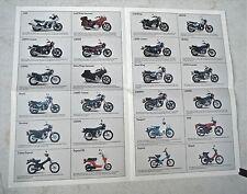 1982 Honda Motorcycle Poster/Sales Brochure- ALL STREET MODELS