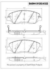 Disc Brake Pad Set-SEMI METALLIC PADS Front Dash 4 Brake MD1202