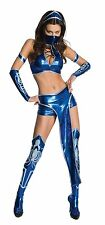 Secret Wishes Womens Kitana Mortal Kombat Costume, Blue, Medium