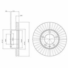 Bremsscheibe (2 Stück) - Delphi BG9692