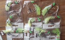 10 X SNAPPER FLASHER 2 X HOOK FISHING RIGS 60lb MONO 5/0 CIRCLE HOOKS & LUMO