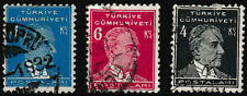 A set of 3 stamps KAMAL ATATURK, Issue 1931-32