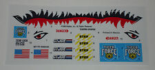 GI Joe Tiger Force Tiger Cat Sticker Decal Sheet