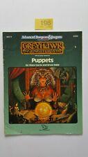Ad&d 2ND EDT marionnettes GREYHAWK ADVENTURES TSR # 9269 WG11