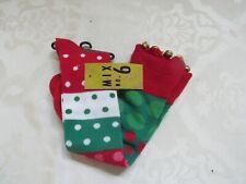 NWT WOMEN'S SOCKS - CHRISTMAS - MIX NO. 6 - JINGLE BELLS ON TOES! HOLIDAY