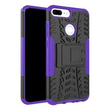 Heavy Duty  ShockProof Kickstand Case Builder Cover for Huawei P Smart (Purple)