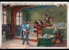 IMAGE CHROMO / CACAO HOLLANDAIS de ERVE H. DE JONG à WORMERVEER ,POSTE Moyen-Age