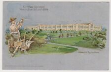 Worlds Fair St Louis 1904 Exhibition postcard - Palace of Agriculture
