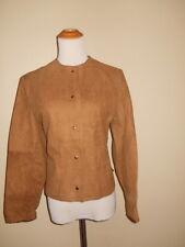 JOHN WEITZ Women's VINTAGE Brown Leather Suede Jacket Coat MEDIUM ethankeith1