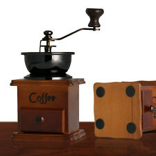 Mini Vintage Manual Coffee Grinder Coffee Bean Mill Ceramic Beech Wood