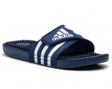 New Adidas Men's Adissage Slides Sandals Flip Flops Blue - F35579