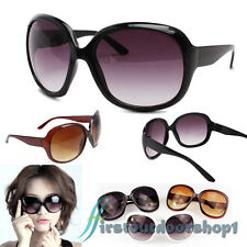 Hot Ladies Women Sunglasses Designer Large Big Frame Retro Vintage Fashion UV400