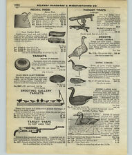 1927 PAPER AD Johnson's Folding Fiber Board Decoys Canada Geese Goose