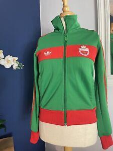 "Vintage MAROC Green/Red Adidas MOROCCO World Cup Football Track Jacket 34"""