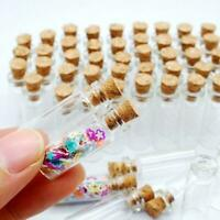 Wholesale Mini Small Tiny Clear Cork Stopper Glass Vials Jars Bottles sizes Q9F7