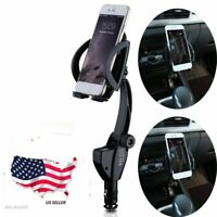 Dual USB Port Car Charger Holder Mount Stand Cigarette Lighter For Cell Phone