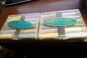 Vintage Amaco Metal Enamels for Gold Silver Copper 2 Sets of 12 NEW SEALED #612