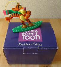 Disney Grolier President Edition Tigger Winnie The Pooh Christmas Ornament w/Box