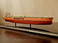 "Vintage Soviet ""QUARTA"" Boxed Dry cargo Ship USSR Museum Model of 70's."