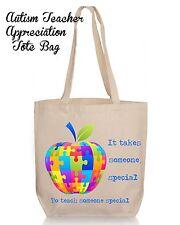 Personalized Autism Teacher Appreciation Tote Bag Image 4