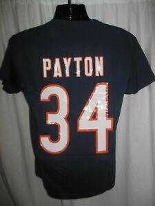 Chicago Bears Waltor Payton#34 Men's Mitchell & Ness Throwback Shirt 2X,3X,4X,5X