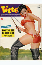 Pin Up Girl Poster 11x17 Titter Magazine Cover Art Gone Fishing bikini