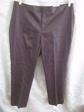 Coldwater Creek Black Cropped Pants Size 14 NWT Slim Leg