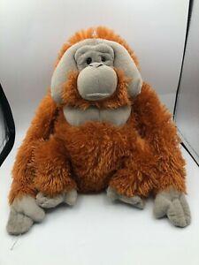 Official Wild Republic Orangutan Orange Monkey Ape Plush Kids Stuffed Toy Animal