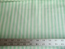 Vintage Pastel Green and Natural Striped 100% Cotton Chambray 58 in Wide BTY