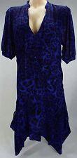 New Womens 2 Michael Kors Leopard Amalfi Blue Fashion Dress $250 MH48VE815N
