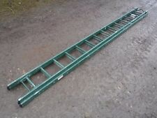Ex MOD High Reach Ramsey Extendable Double Ladder 11ft - 21ft  Army Military