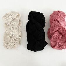 Women Knitting Wool Headband Braid Weaving Hair Band Autumn Winter Stripe