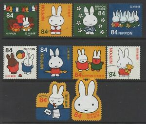 Japan 2019 84y Miffy set of 10 Fine Used