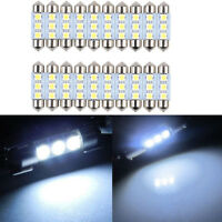 20pcs White Error Canbus Car LED 3smd 36mm Festoon Number License Plate Light