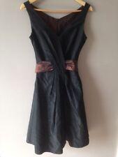 Tailor made Black 50s 60s Audrey Hepburn Retro Swing Dress Vintage style UK10/12