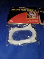 Vampire fangs halloween costume brand new set of 2 fangs ship fast monster teeth