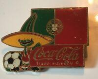1984 Coca Cola Soda Soccer World Cup Portugal Enamel Pin