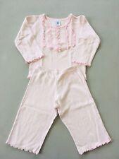 PETIT BATEAU Pyjama Coton 2 Pièces Chiné Rose 2 Ans Fille Bon État