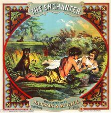 Petersburg, Virginia The Enchanter Tobacco Crate Box Label Art Poster Print