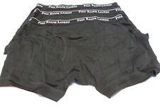 3 Mens Polo Ralph Lauren Boxer Briefs Small 28-30 S Black