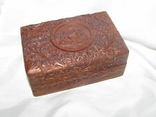Carved Wooden Triquetra Trinket Box Wicca Pagan