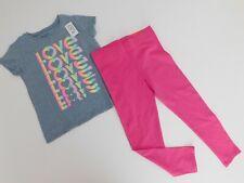 NWT Children's Place & Isacc Mizrahi Girls 2 Pc Set Love T-Shirt/Leggings XS5/6
