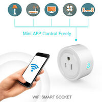 Smart Power Socket Wifi Switch Remote Control Timer Outlet US Plug White