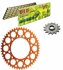 DID 520VX2 chain & 13t/52t Renthal orange sprocket kit KTM 350EXC-F 2012-2016