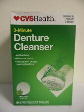 CVS Health 3-Minute DENTURE CLEANSER  84 Effervescent Tablets EXP:5/21